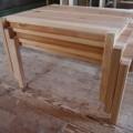 泉岳少年自然の家 小型スタッキングテーブルW750(スタッキング3台重ね)HP